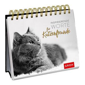 Spiralaufsteller Inspirierende Worte für Katzenfreunde