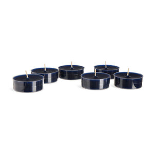 Jumbo Teelichter, 6 Stück, D:6cm x H:2cm, dunkel-blau