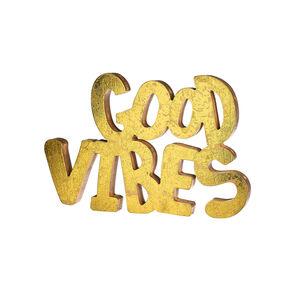 Schriftzug Good Vibes, L:30cm x B:20cm, gold