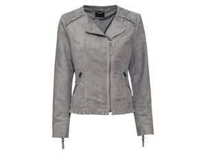ESMARA® Mantel Damen, in Veloursleder-Optik, mit Schulterzone