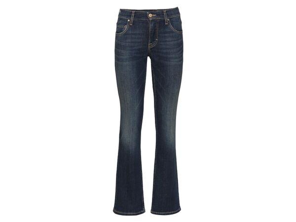 Mustang Jeans Damen »Sissy Boot«, Comfort Fit, mit Lederpatch, hoher Baumwollanteil