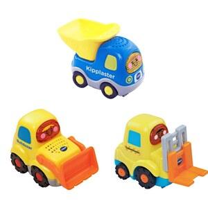 VTech - Tut Tut Baby Flitzer: Set 12 (Bulldozer, Kipplaster, Gabelstapler)