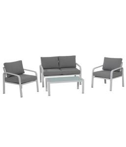 Siena Garden Lounge-Set Dalia, weiß/grau