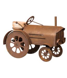 Metall-Pflanzgefäß Traktor, 60 x 42 x 30 cm, rost