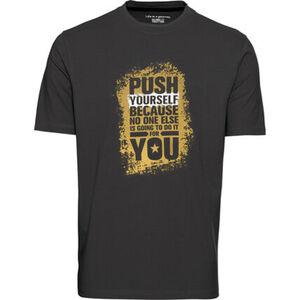 Globetrotter T-Shirt, Front-Print, für Herren