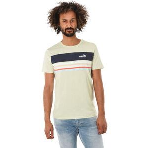 MANGUUN T-Shirt, Rundhals, Melange, Print, für Herren