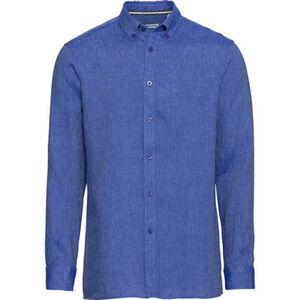 MANGUUN Freizeithemd, Leinen, Button-Down-Kragen, für Herren