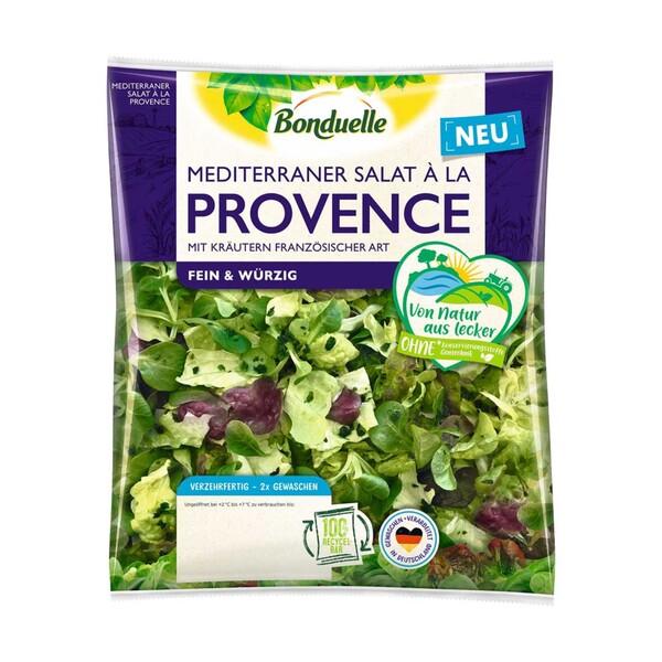 Bonduelle Gourmet Salat a la Toskana oder Bonduelle Mediteraner Salat a la Provence, Kennzeichnung siehe Etikett, jeder 120-g-Beutel