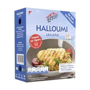 Greco Halloumi Grillkäse Käse für Grill und Pfanne, 43 % Fett i. Tr., versch. Sorten, jede 250/225-g-Packung