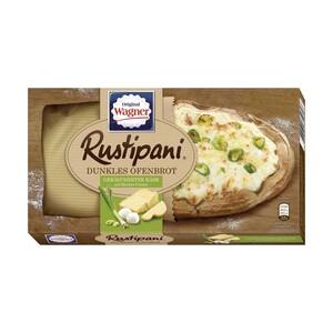 Original Wagner Rustipani Helles Ofenbrot Salami oder Dunkles Ofenbrot Geräucherter Käse gefroren, jede 170/175-g-Packung und weitere Sorten