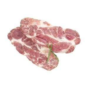 Frisches Nackenkotelett vom Schwein, natur oder gewürzt, je 1 kg