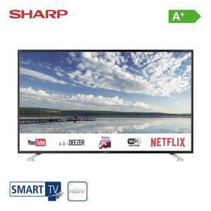 40BG4E • FullHD-TV • 3 x HDMI, 2 x USB, CI+ • integr. Kabel-, Sat- und DVB-T2-Receiver • Maße: H 53,5 x B 91,4 x T 7,8 cm • Energie-Effizienz A+ (Spektrum A++ bis E), Bildschirmdiagonale: