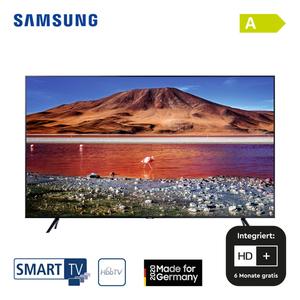 """GU50TU7179 • 2 x HDMI, USB, CI+ • integr. Kabel-, Sat- und DVB-T2-Receiver • Maße: H 64,4 x B 111,6 x T 6 cm • Energie-Effizienz A (Spektrum A+++ bis D), Bildschirmdiagonale: 50""""/125 cm"""