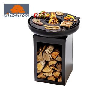 Plancha-Grill und  Feuerstelle Matanzas - abnehmbarer Plancha-Grillring aus Gusseisen - Maße: ca. H 73 x B 60 x T 60 cm