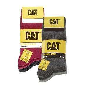 CAT  Damen- oder Herren-Businesssocken verstärkter Zehen- und Fersenbereich, Größe: 35/38 - 43/46, 5er-Pack, je