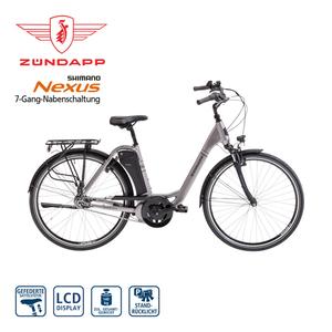 Alu-Elektro-Citybike Green 5.0 28er - Fahrunterstützung bis ca. 25 km/h, 5 Unterstützungsstufen - AEG Li-Ionen-Akku 36 V/11,6 Ah, 418 Wh - Reichweite: bis ca. 120 km (je nach Fahrweise) - Rahmenhö
