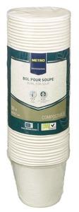 METRO Professional Einweg Suppenschüssel 450 ml Weiß Ø 10,7 cm - 50 Stück