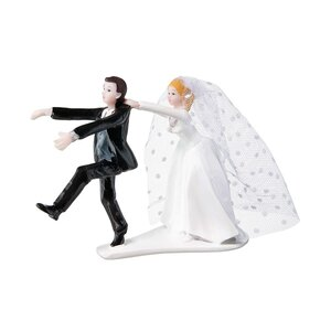 WEDDING Deko Brautpaar 'Halt!' L 14 x B 6cm