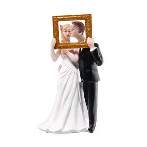 WEDDING Deko Brautpaar mit Bilderrahmen B 7 x T 5cm