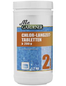 Wasserpflege, 1,2 kg Chlor - Langzeit Tabletten , für Pools