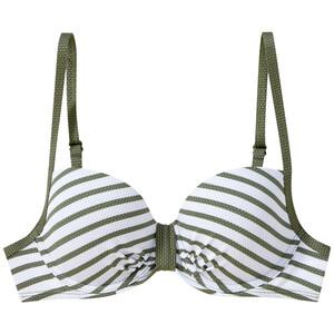 Damen Bikinioberteil mit Streifen