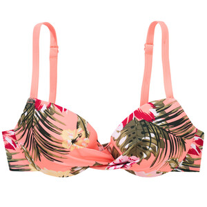Damen Bikinioberteil mit Tropical-Muster