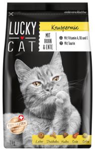 7 x 1kg Lucky Cat Knuspermix mit Huhn & Ente