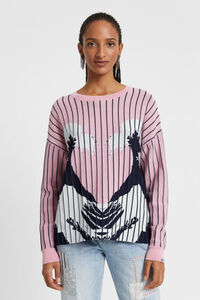 Pullover mit hawaiianischem Muster