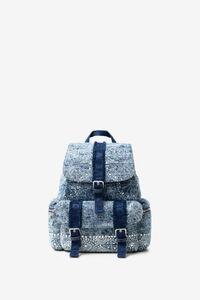 Jeans-Rucksack mit galaktischen Mandalas