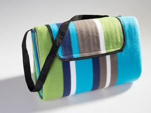 Solax-Sunshine Picknickdecke ca. 200 x 200 cm - Grün/Blau/Beige