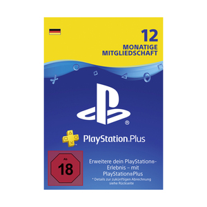 SONY PS PLUS 12 MONATE Guthabenkarte