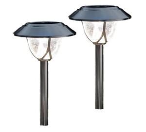 Duracell Edelstahl-Solar-LED-Leuchten, 2er Set