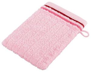 Waschhandschuh Boston rosé 15 x 21 cm