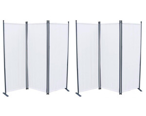 Grasekamp Paravent Weiß 3-tlg 2 Stück