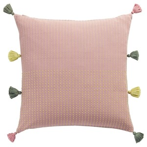 KLARAFINA                                Kissenbezug, Handarbeit rosa, grün, 50x50 cm