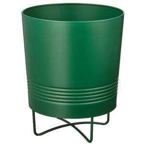 GRANATÄPPLE                                Übertopf mit Stativ, drinnen/draußen dunkelgrün, 15 cm