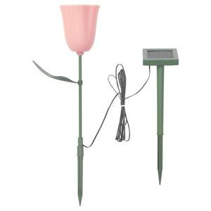 SOLVINDEN                                Solar-Erdspieß, LED, für draußen, Tulpe rosa
