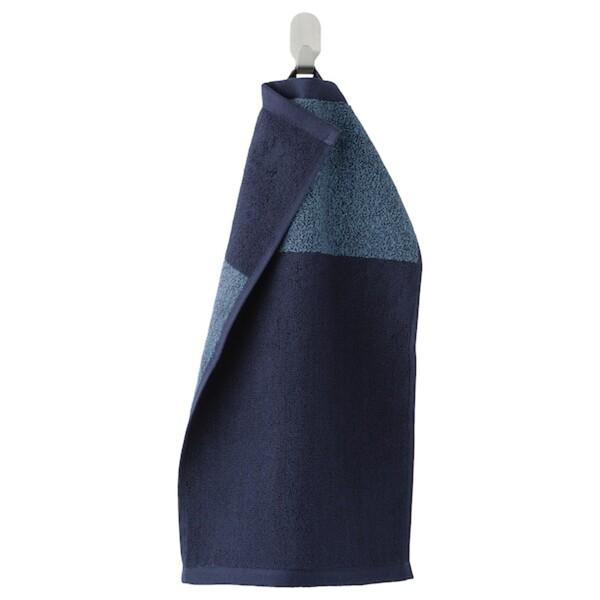HIMLEÅN                                Gästehandtuch, dunkelblau, meliert, 30x50 cm