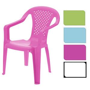 Kinderstuhl aus Kunststoff in verschiedenen Farben