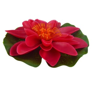 Gardena Seerose Kunststoff Ø13 cm rot