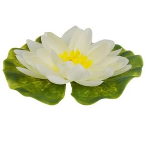 Gardena Seerose Kunststoff Ø13 cm weiß