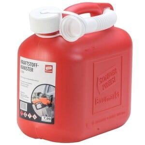 Reservekanister 5 Liter mit Verschluss und Auslaufrohr