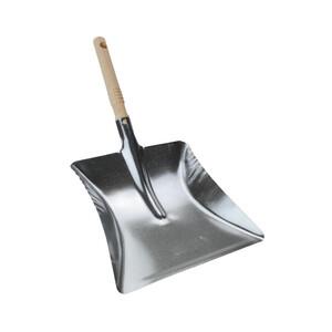 Kohleschaufel Metall verzinkt Holzgriff Ascheschaufel Metallschaufel Kehrschaufel