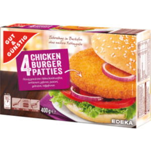 Gut & Günstig 4 Chicken Burger Patties