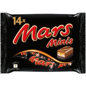 Mars, Milky Way, Bounty, Snickers oder Twix Minis