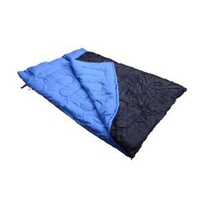 Outsunny Doppelschlafsack mit Kissen blau/schwarz