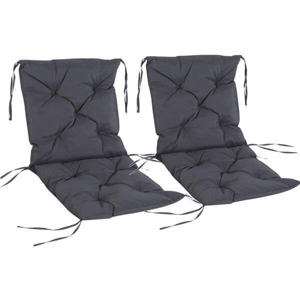 Outsunny Stuhlauflage als 2er-Set grau