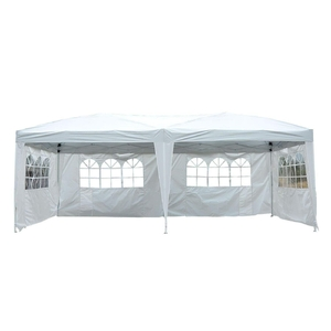 Outsunny Gartenpavillon inklusive 4 Seitenteile weiß/transparent