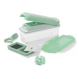 Genius Nicer Dicer Plus Multischneider Pastell-Edition 9 Teile grün pastell-grün