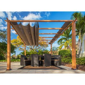 Paragon Outdoor Pergola Florida 350x350cm Hellbraun